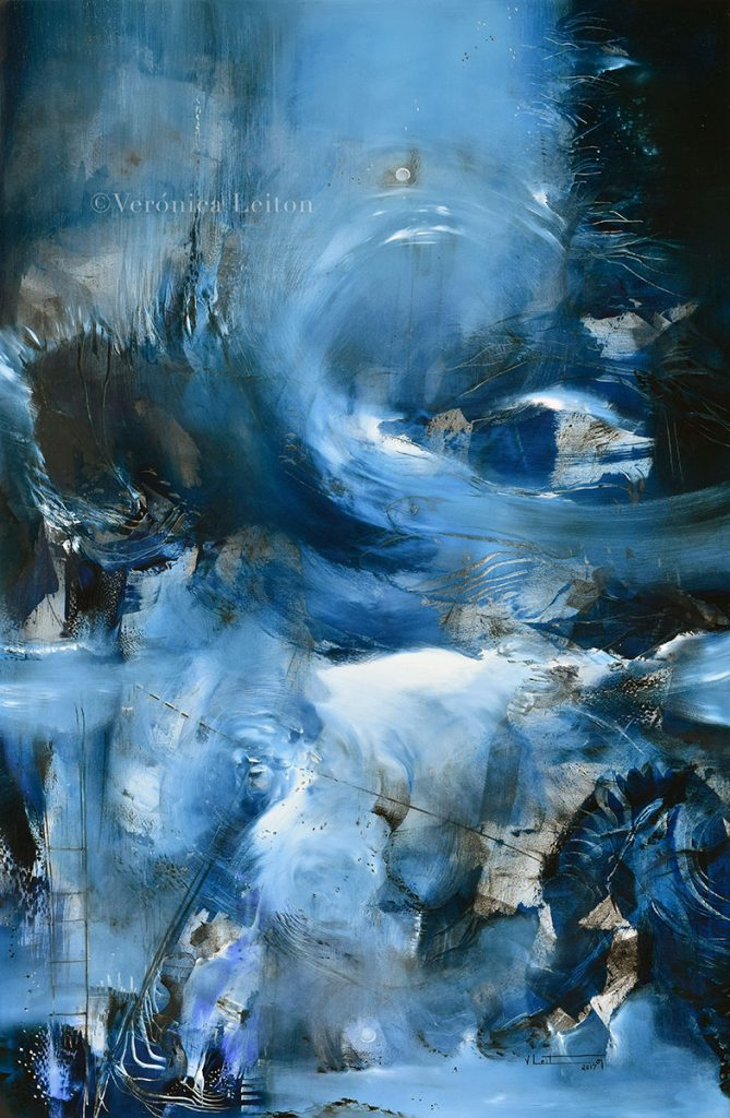 """Delirium Sea - Oil on canvas / 47.2"""" x 31.5"""" x 2"""" / 2017"""
