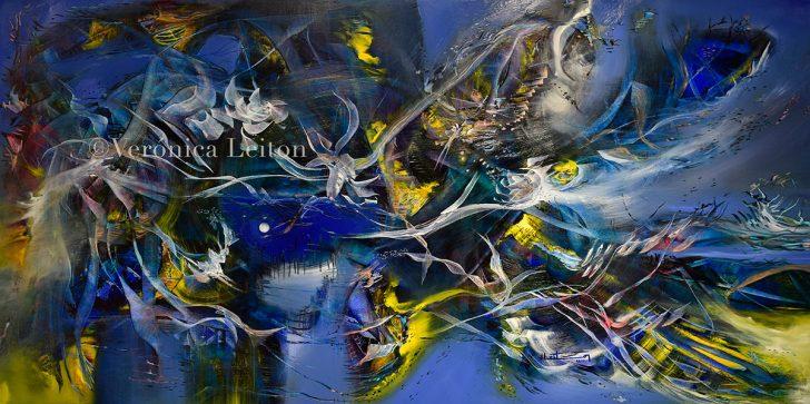 """Where the Wind Born - Oil on canvas / 23.6"""" x 47.2"""" x 2"""" / 2017"""