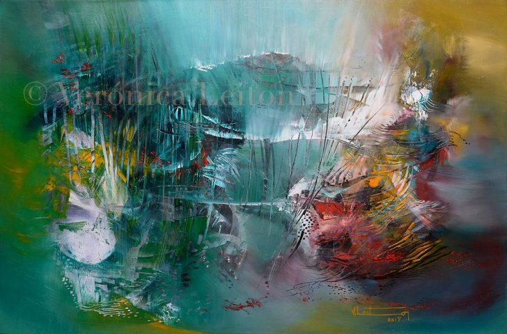 "Where the Light is Born - Oil on canvas / 11.8"" x 19.7"" x 2"" / 2017"