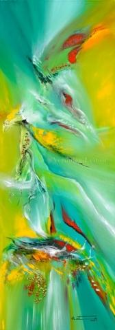 "Light´s Traveler - Oil on canvas / 33.5"" x 13.8"" x 2"" / 2018"