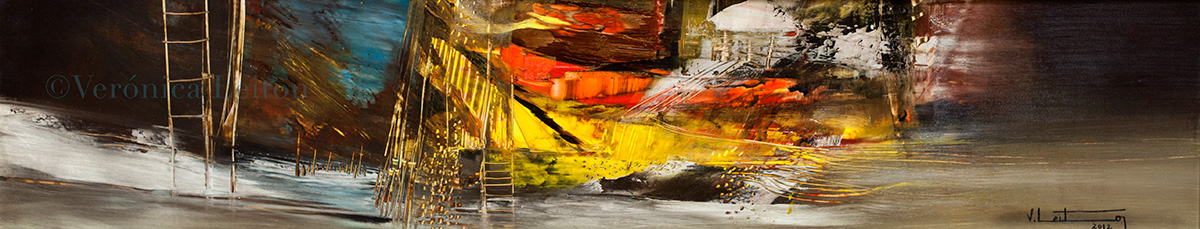 Oil on paper / 7.28x36.6 / 2012