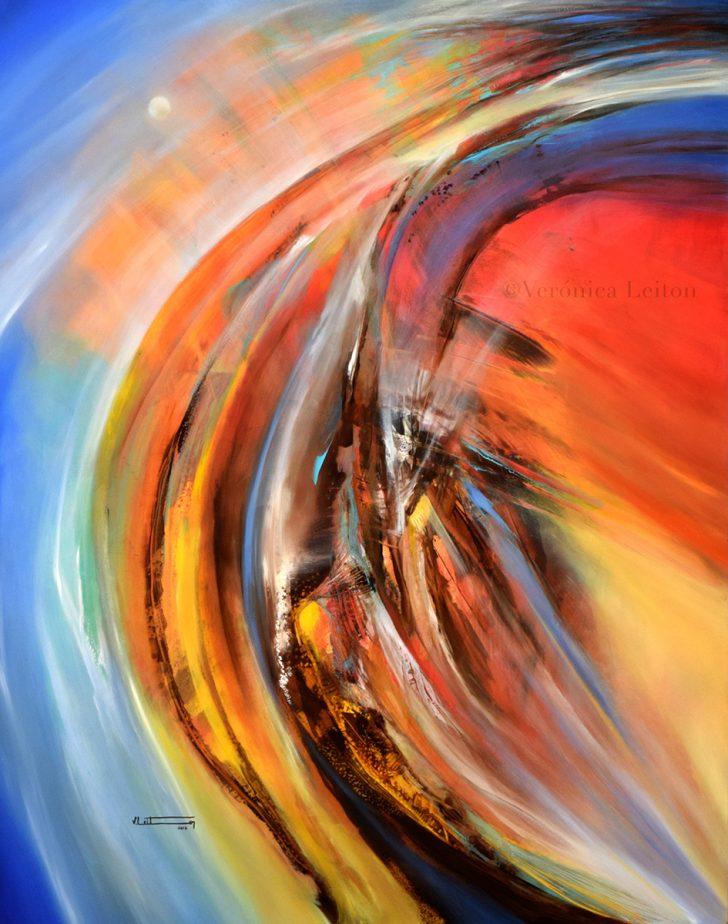 "Stellar Waves - Oil on canvas / 39.4"" x 31.5"" x 2"" / 2016"