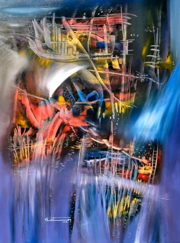 """Autumn of Light - Oil on canvas / 31.5"""" x 23.6"""" x 2"""" / 2018"""