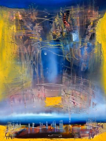 "Stonehenge - Oil on canvas / 31.5"" x 23.6"" x 2"" / 2018"