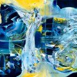"Sea´s Harlequin - Oil on canvas / 27.6"" x 35.4"" x 2"" / 2019"