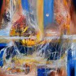 """Towards the Light - Oil on canvas / 23.6"""" x 23.6"""" x 2"""" / 2019"""