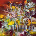 "Little Dream´s Garden - Oil on canvas / 23.6"" x 23.6"" x 2"" / 2019"