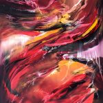 """Fire´s Whisper - Oil on canvas / 31.5"""" x 23.6"""" x 2"""" / 2019"""