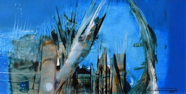 """Era's Renewal - Oil on paper / 13"""" x 24.8"""" / 2012"""