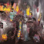"Near Andromeda - Oil on canvas / 39.4"" x 59.1"" x 2"" / 2016"