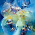 """Marine Dance - Oil on canvas / 39.4"""" x 31.5"""" x 2"""" / 2016"""