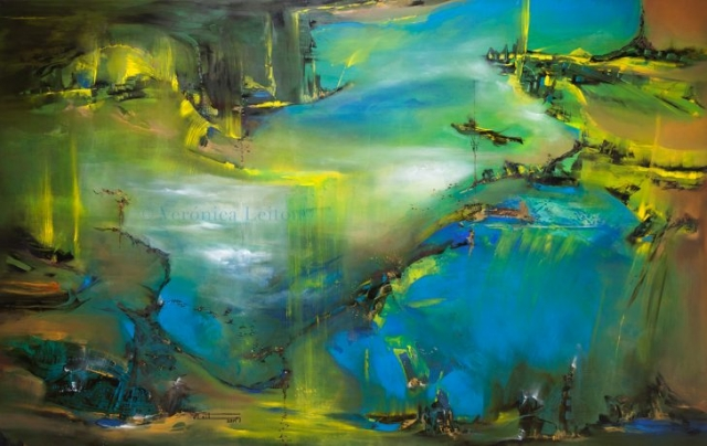 """Coming Back Home - Oil on canvas / 55.1"""" x 86.6"""" x 1.6"""" / 2014"""