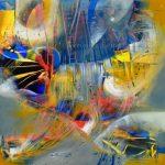 "Venus Flashes - Oil on canvas / 23.6"" x 23.6"" x 2"" / 2016"