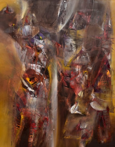"""Rekindle Flow - Oil on canvas / 59.1"""" x 47.2"""" x 2"""" / 2014"""