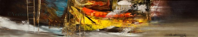 """In the depth up like down - Oil on paper / 7.3"""" x 36.6"""" / 2012"""