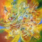 "Light's Garden - Oil on canvas / 39.4"" x 39.4"" x 2"" / 2015"