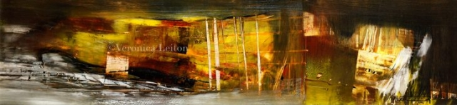 """The Cavern is Lit - Oil on paper / 9"""" x 37"""" / 2012"""