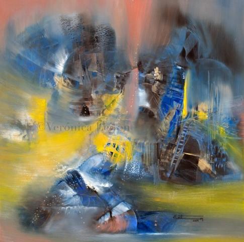 """Mistery ́s Silence - Oil on canvas / 31.5"""" x 31.5"""" x 2"""" / 2014"""