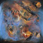 "Beyond the Nebula - Oil on canvas / 45.3"" x 45.3"" x 2"" / 2015"
