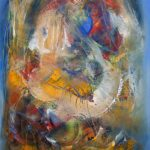 "Stars' Sinking - Oil on canvas / 31.5"" x 23.6"" x 2"" / 2015"
