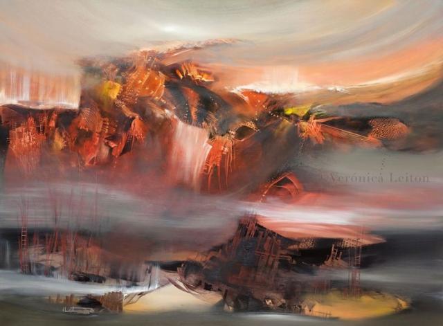 """Beat's Earthquake - Oil on canvas / 39.4"""" x 53.1"""" x 2"""" / 2012"""