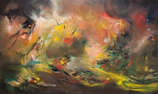 "Valley of Transmutation - Oil on canvas / 47.2"" x 78.7"" x 2.6"" / 2014"